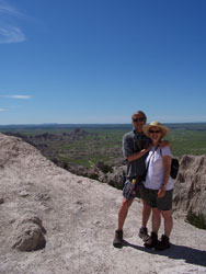 Bob and Ellen on the Notch Trail in the Badlands