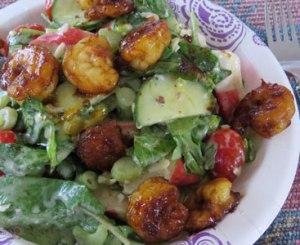 Bob's Mixed Greens with Shrimp